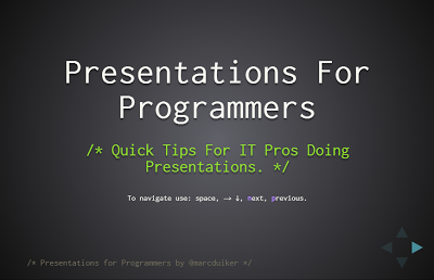 Presentations for programmers
