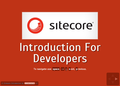 Sitecore introduction for programmers