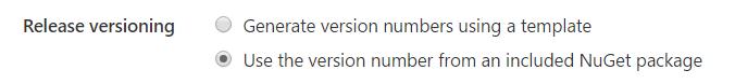 Release versioning