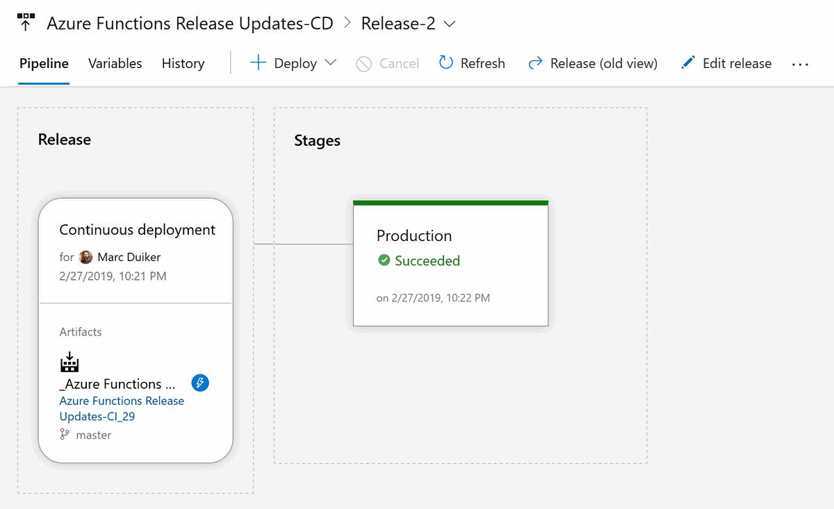 Azure Devops CD pipeline.