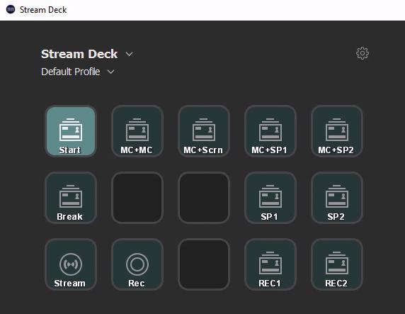 Stream Deck software on the VM.