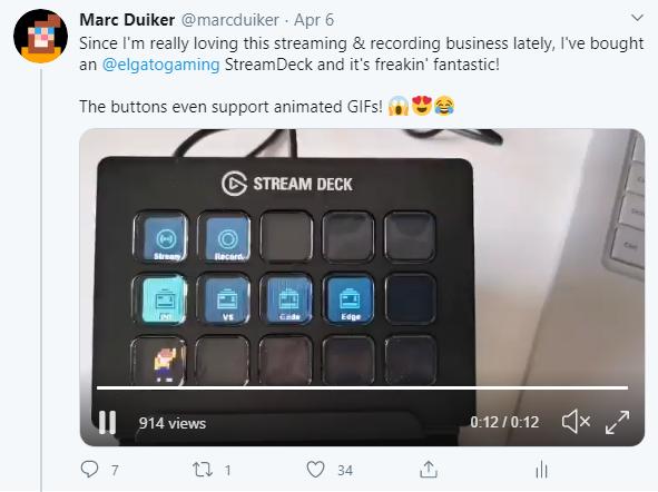Twitter Stream Deck Tweet