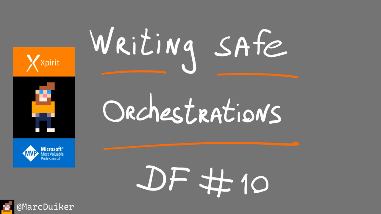 Slide showing Writing Safe Orchestrations