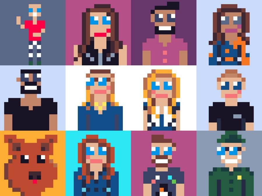 Build 2020 hosts, as 8bit avatars.